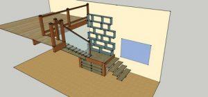 escalier aménagement batik charpente