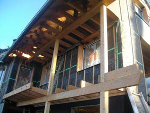 maison, ossature bois, isolation, thermique