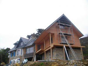 extension, ossature bois, isolation thermique, batik charpente