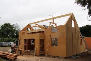 maison, ossature bois, charpentier
