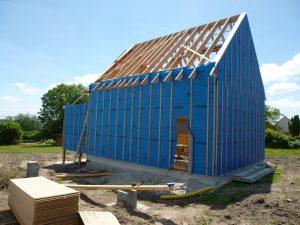 maison, ossature bois, charpente